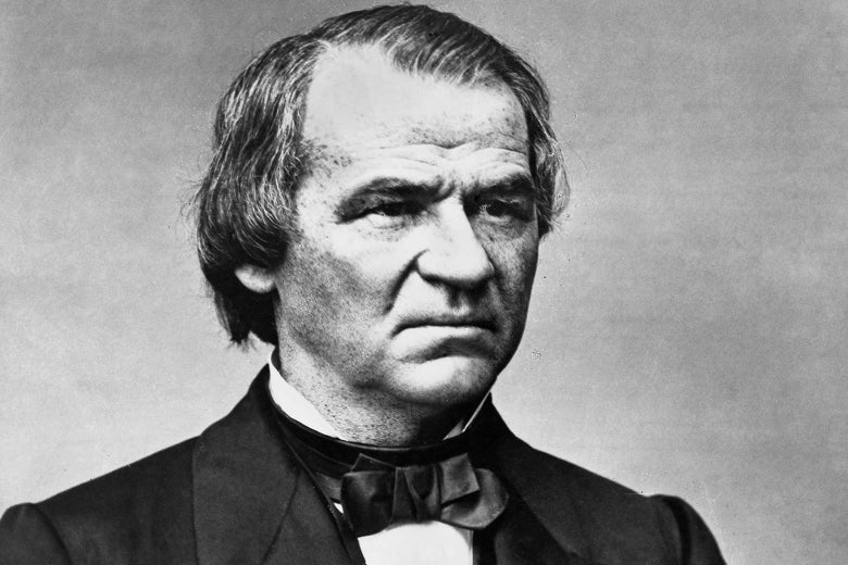 A portrait of Andrew Johnson in 1865.