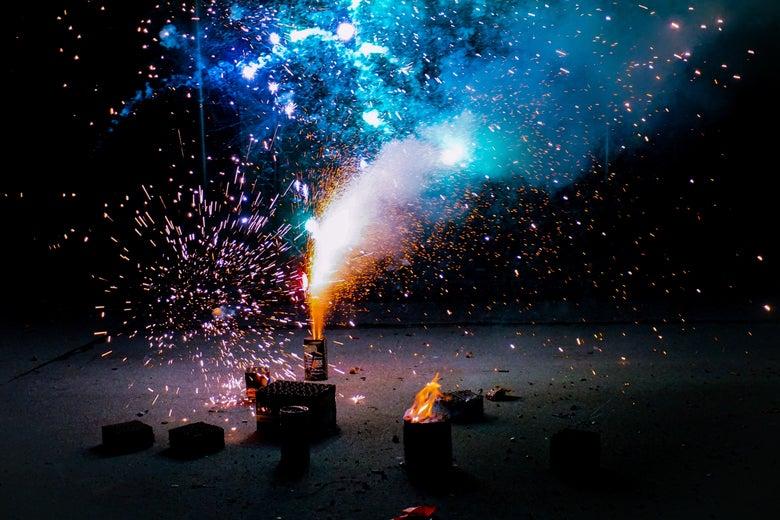 A firework exploding.