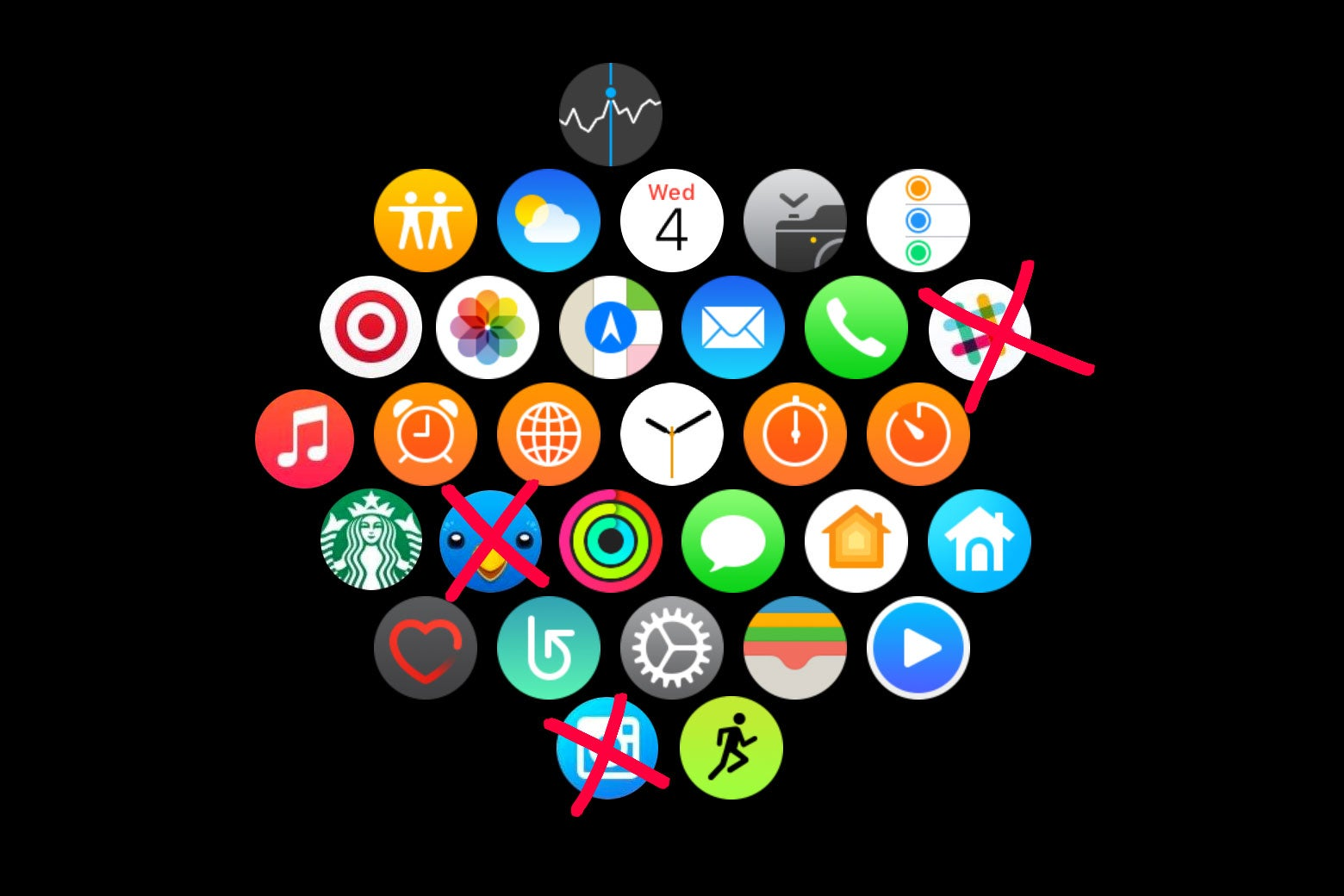 Apps deleted from Apple Watch.