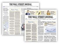 The Wall Street Journal redesign. Click image to expand.