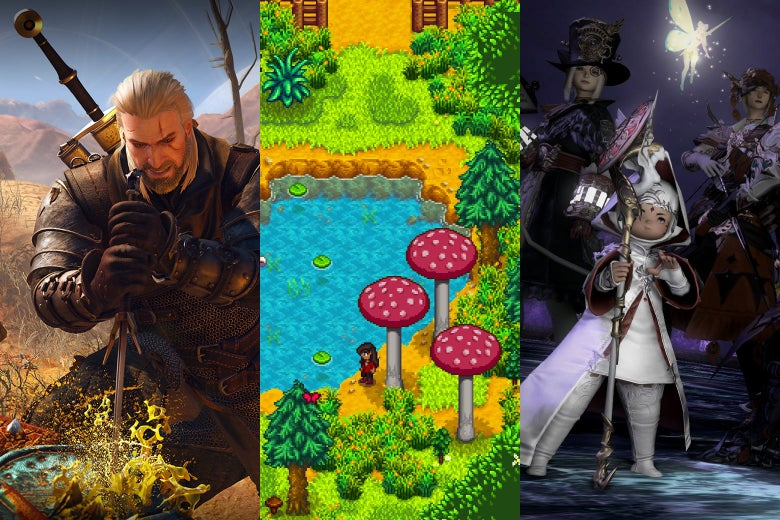 The Witcher III, Stardew Valley, and Final Fantasy XIV.
