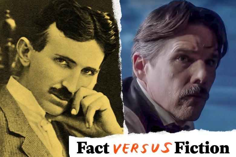 Nikola Tesla and Ethan Hawke.