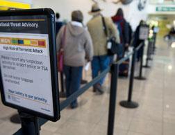 Passengers at Baltimore Washington International Airport. Click image to expand.