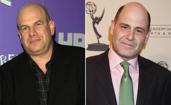 'The Wire' creator David Simon (L) and 'Mad Men' creator Matthew Weiner (R).