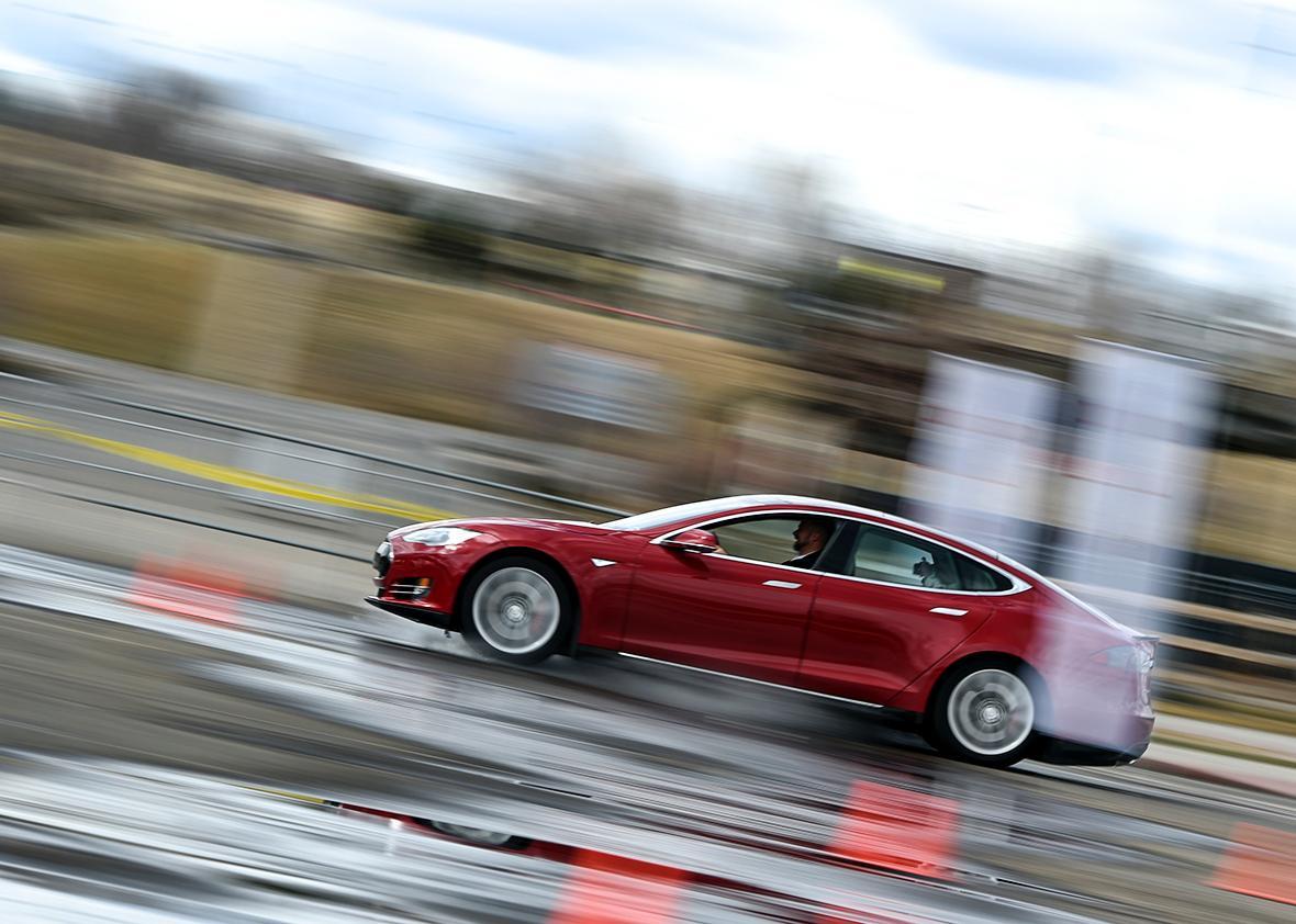 Tesla Motors P85D Model S.