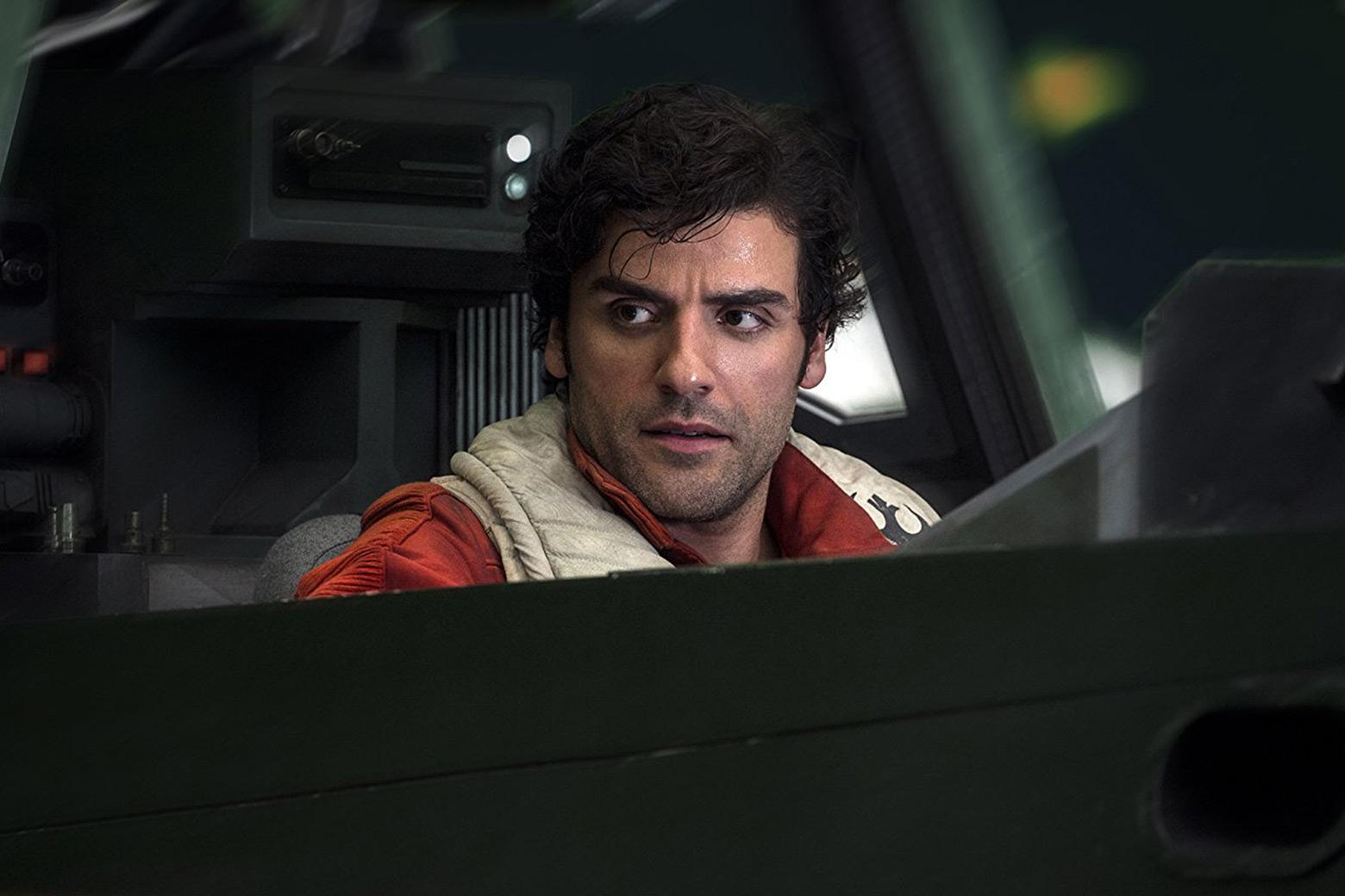 Oscar Isaac as Poe Dameron in Star Wars: Episode VIII - The Last Jedi.