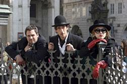 Mark Ruffalo, Adrien Brody, and Rinko Kikuchi in The Brothers Bloom