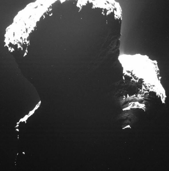 67P/Churyumov-Gerasimenko's dark side