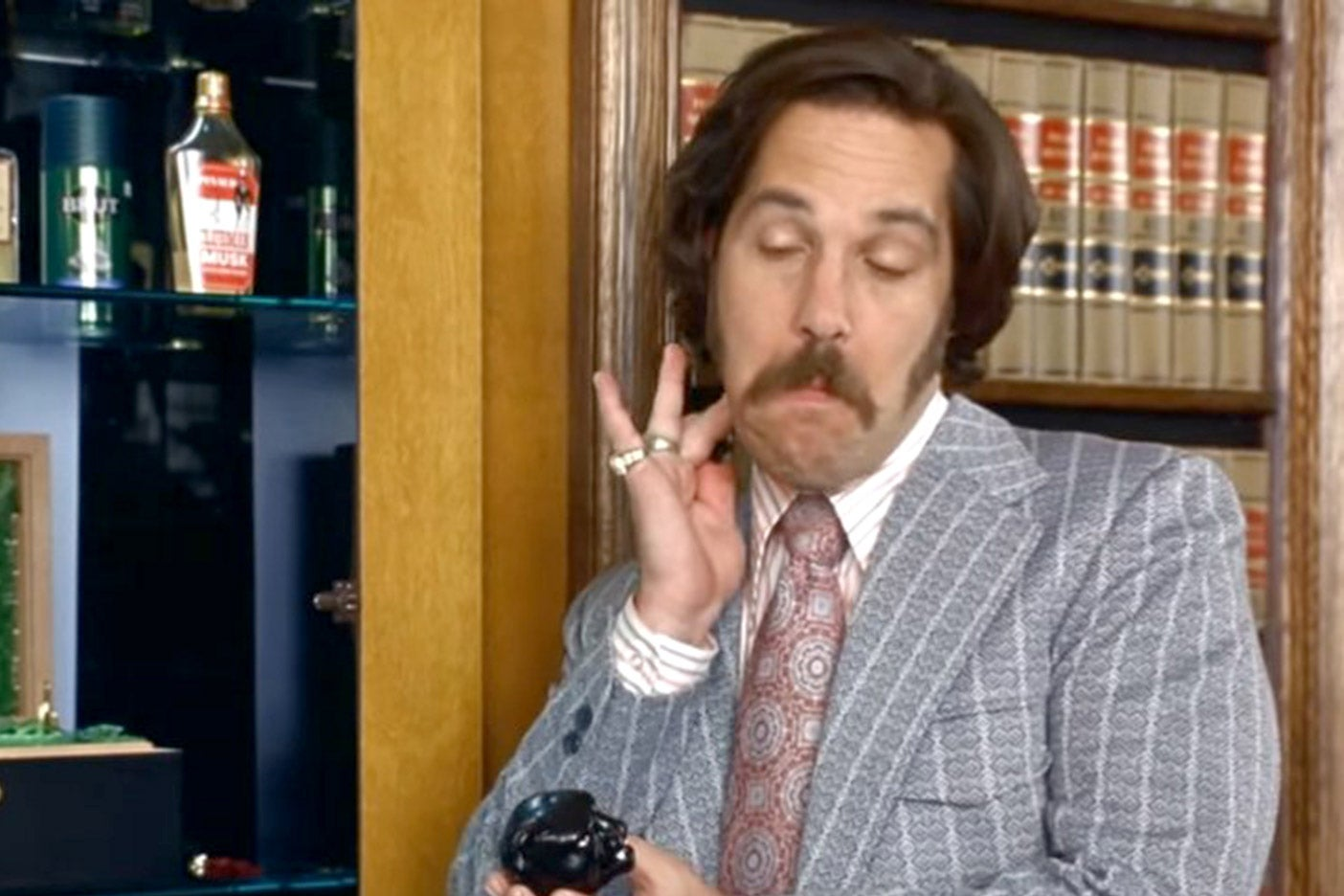Paul Rudd in Anchorman.