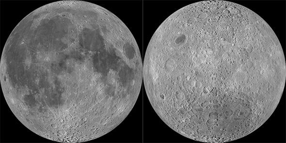 Moon near and far side