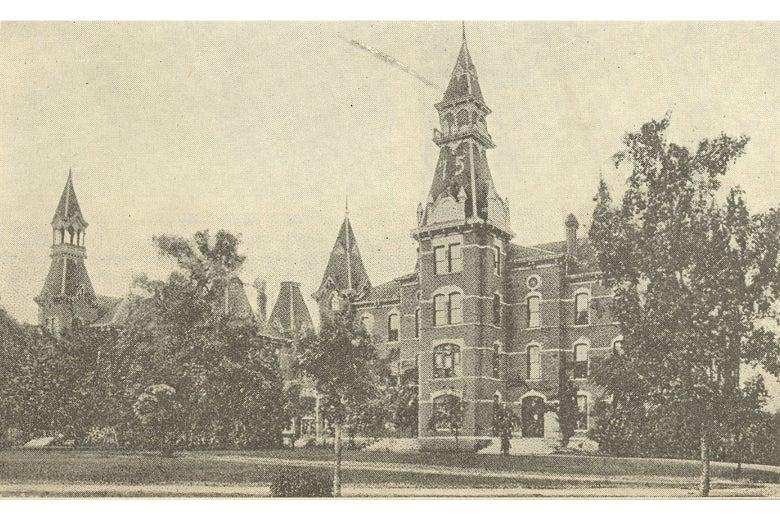 A brick university building in Waco.