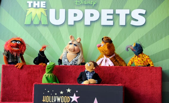Kermit The Frog appears onstage during the Walt Disney Studios Motion Pictures presentation at CinemaCon 2012.