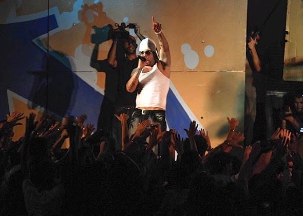 Los Aldeanos rap group member and singer Aldo.