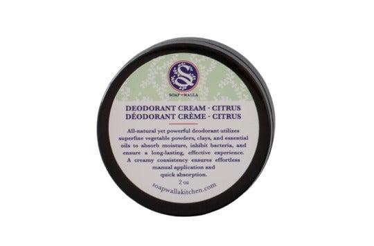 Soapwalla Citrus Deodorant Cream.