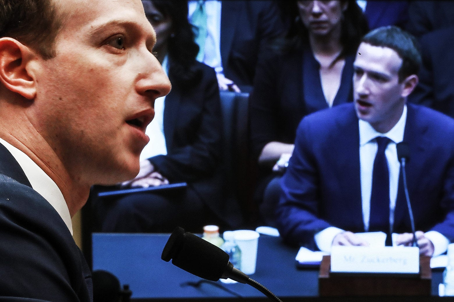 Facebook CEO Mark Zuckerberg testifies before the House Energy and Commerce Committee in the Rayburn House Office Building on Capitol Hill on Wednesday in Washington.
