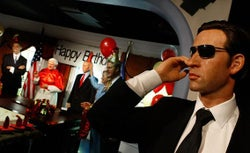 A wax figure of a Secret Service Agent.