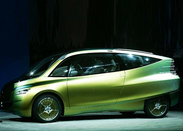 A Mercedes-Benz bionic car.