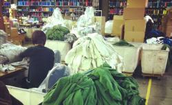 American Giant hoodie factory.