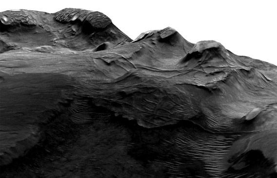 3D representation of ridges
