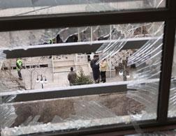 Site of the bomb explosion that killed an Iranian university lecturer. Click image to expand.