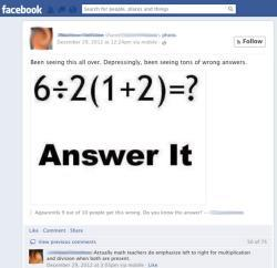 Facebook math problem: Why PEMDAS doesn't always give a