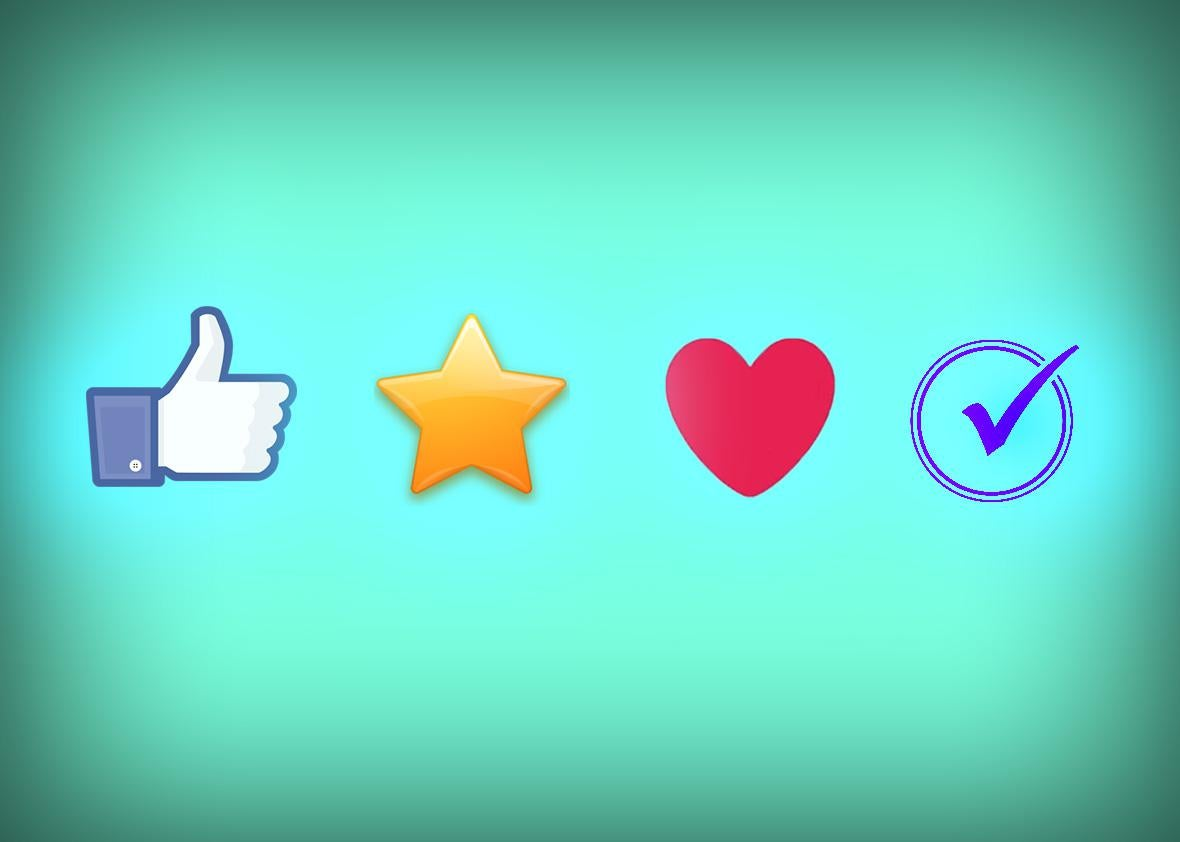 twitter favorite and heart buttons.