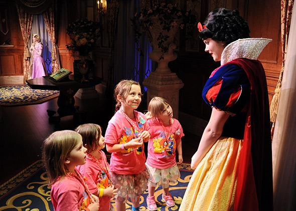 Young guests meet Snow White at Princess Fairytale Hall in Disney World's new Fantasyland