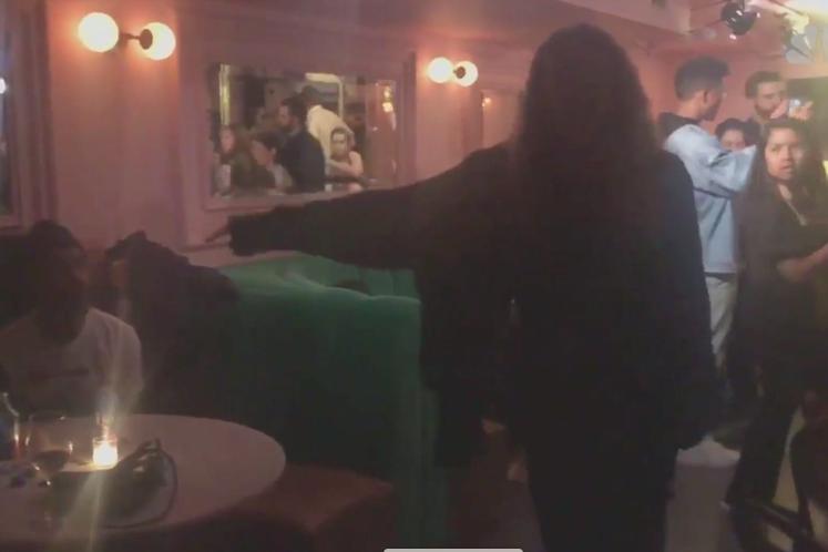 Zoe Stuckless confronts Harvey Weinstein.