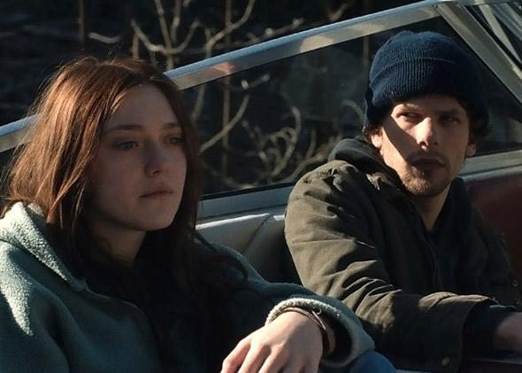 Jesse Eisenberg and Dakota Fanning in Night Moves (2013).