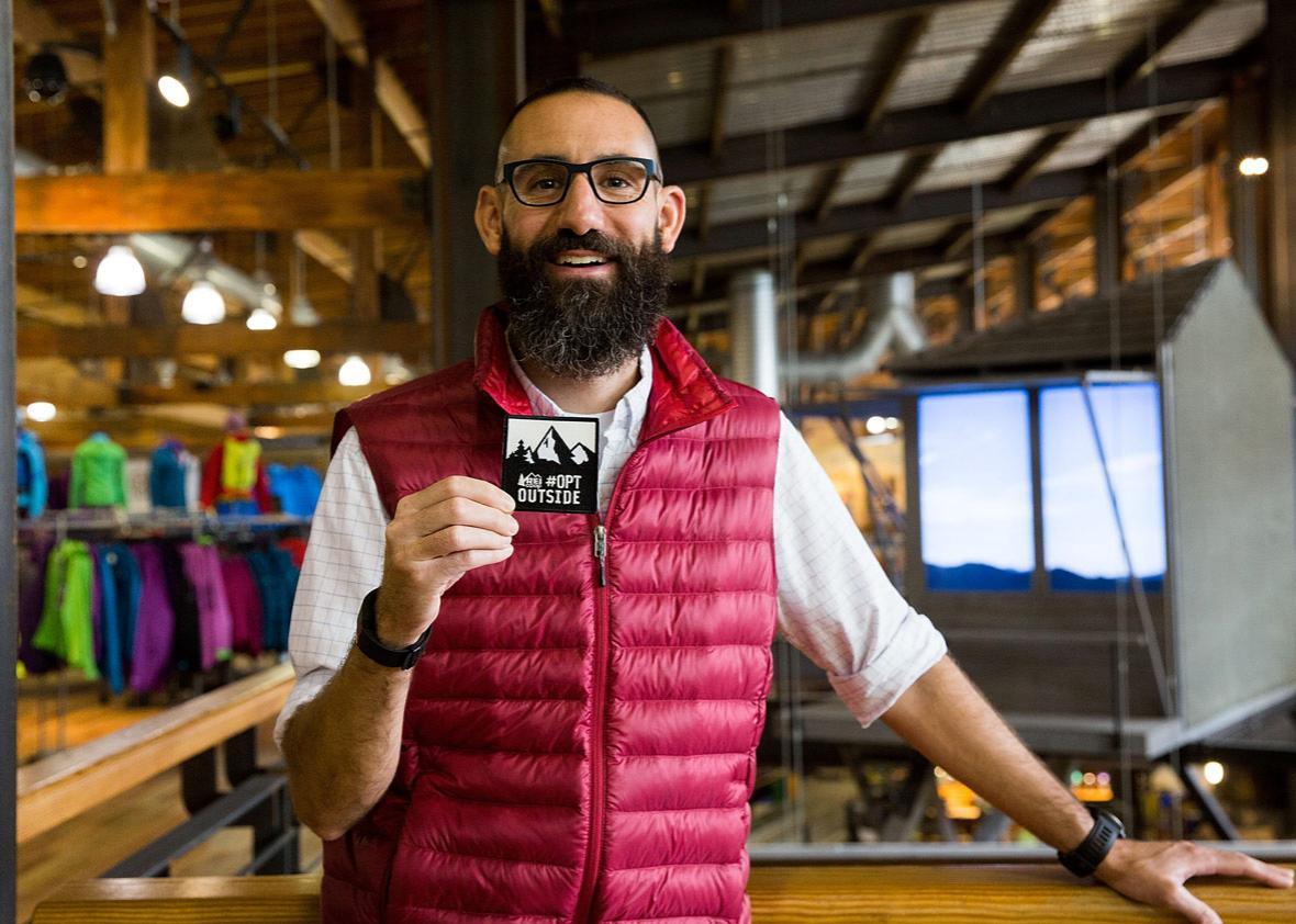 Ben Steele of Specialty Outdoor Retailer REI announces Black Friday closure at 143 stores nationwide with unveiling at Seattle flagship store