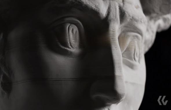 paper head sculpture