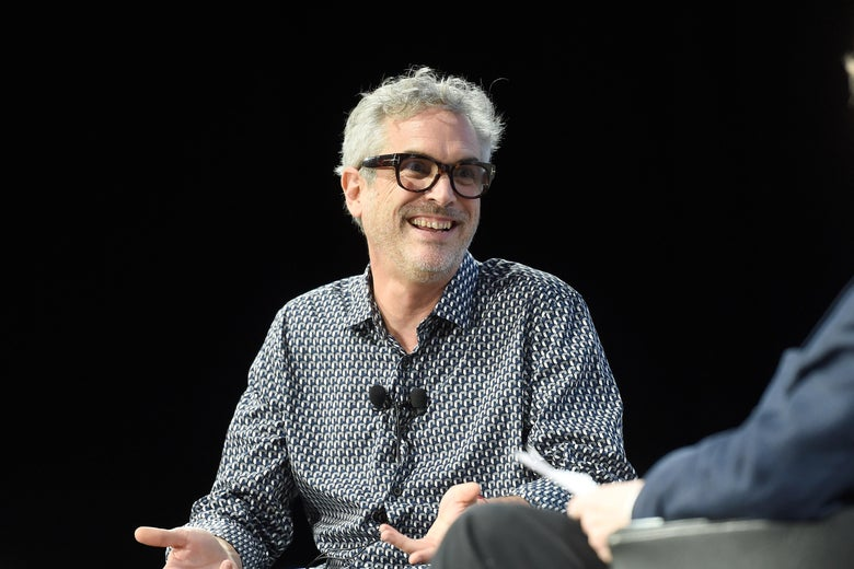 Film director, screenwriter, producer Alfonso Cuaron speaks during the Alfonso Cuaron Cinema Lesson.