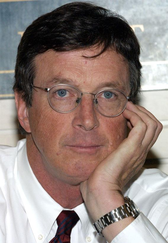 Author Michael Crichton.