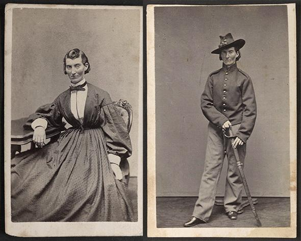 Francis Louisa Clayton, who fought for the Union. When her husband died, a few feet in front of her at Stones River, she stepped over his body and kept fighting.