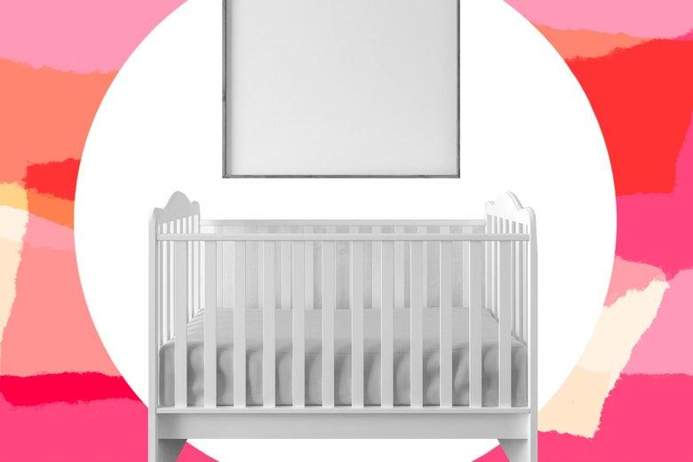 Crib and frame.