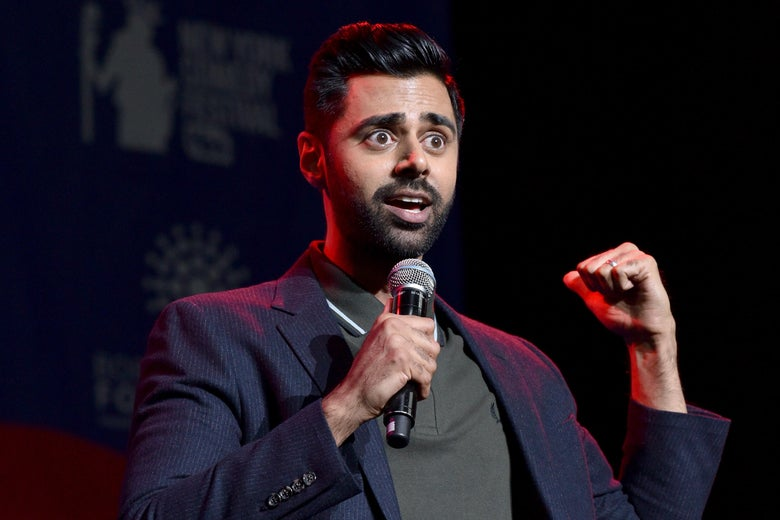 Hasan Minhaj speaks onstage during the 11th Annual Stand Up for Heroes Event.