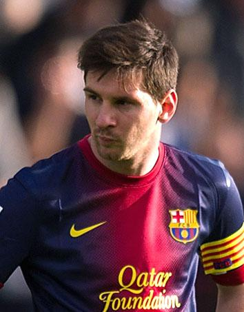 Lionel Messi of Argentina plays with FC Barcelona during a match against RC Celta de Vigo on March 30, 2013, in Vigo, Spain.