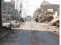 The souk in the Jolan district of Fallujah in November 2004. Click image to expand.