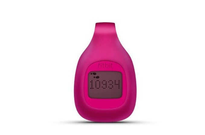 Pink Fitbit Zip clip.