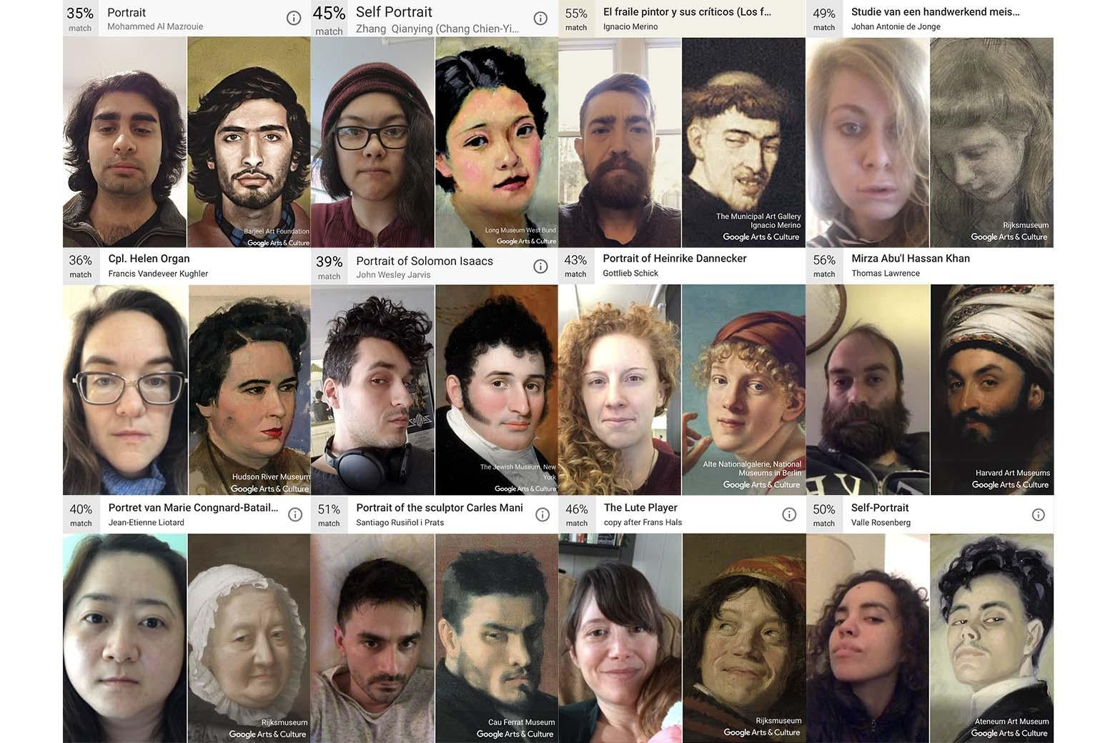 Slate staff results from the Google Arts & Culture App.