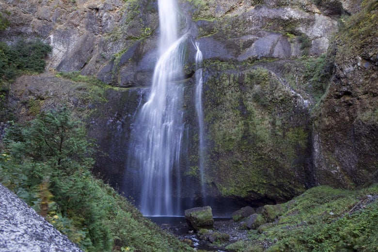 A waterfall in the Columbia River Gorge