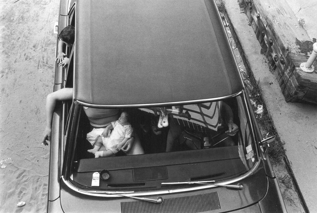 Family in Car, Coney island, 1976.
