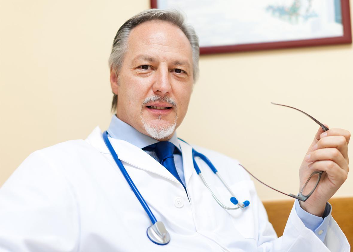 Pensive doctor