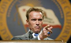Governor Arnold Schwarzenegger. Click image to expand.