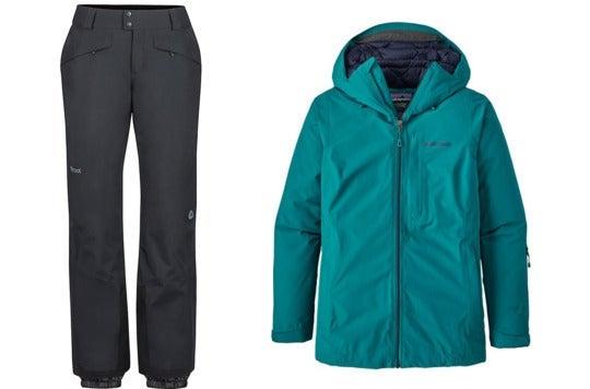 Ski pants and jacket.