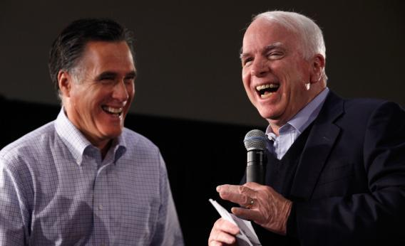 Mitt Romney and John McCain