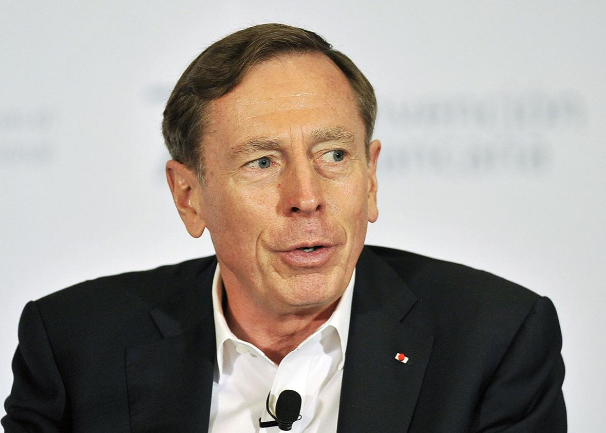 Retired US general David Petraeus delivers a speech during the second day of the 79th Annual Convention of Bankers in Acapulco, Mexico, on March 11, 2016.