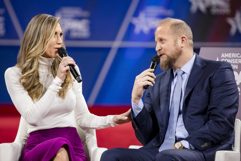 Presidential daughter-in-law Lara Trump with Brad Parscale at the Conservative Political Action Conference 2020 (CPAC).