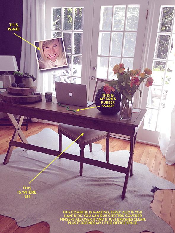 Holly Allen's desk at home in Georgia.
