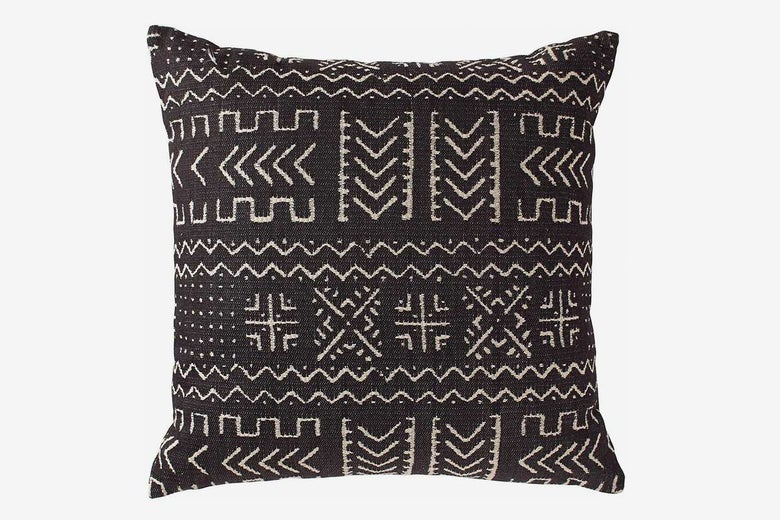 Rivet Mudcloth-Inspired Decorative Throw Pillow
